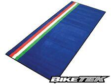 NEW BIKETEK ITALIAN FLAG ITALY IL TRICOLORE GARAGE MAT PIT MAT WORKSHOP MAT