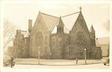 Marshaltown Iowa~First United Methodist Episcopal~Real Photo Postcard c1939