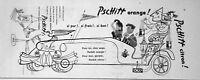 PUBLICITÉ DE PRESSE 1955 PSCHITT CITRON OU ORANGE PERRIER - BRIGITTE BARDOT