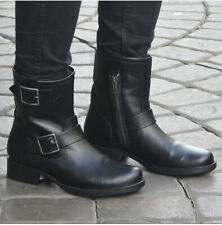 Frye Vicky Engineer Buckle Black Leather Boots Size 9
