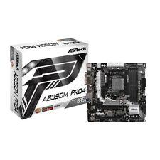 ASRock AB350M PRO4 AM4 micro-ATX AMD MB F/Ryzen CPU - Free Shipping USA - NEW