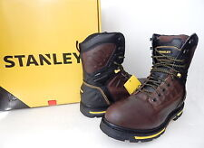 NWB Stanley Men's Secure 8 Inch Soft Toe Work Boot Size 13 M (US) Brown