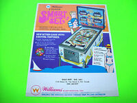 Williams SMART SET Original 1969 Flipper Game Pinball Machine Promo Flyer Rare