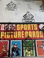 1985 Topps Baseball Rack Box - 24 packs - BBCE authentic - Clemens McGwire PSA