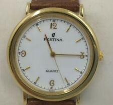 Watch Festina Vintage NOS 90's. Gold Coloured, Sphere White