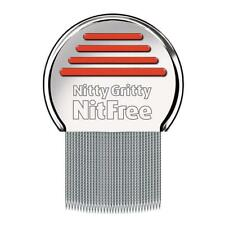 Nitty Gritty NitFree Comb, Removes all head lice, nits & eggs, Steel Metal Head