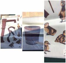 Nos Decorative Tatouage Transfer Rub Design Car Yovan Water Pump Ducks Bucket