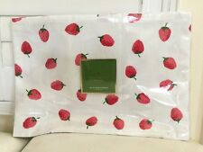 """KATE SPADE Placemats 4x Set Lobster Fete RED White Home Dinning Cotton13x19"""" NEW"""