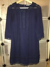 Review Navy Blue Lace 3/4 Sleeves Dress Size 10