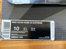 Nike Zoom Kobe VII 7 Supreme Size 10 Men EMPTY SHOE BOX & an Insole /Insert Only
