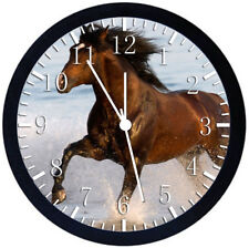 Horse in The Water Black Frame Wall Clock Nice For Decor or Gifts Y38