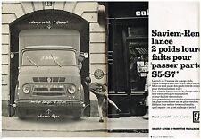 PUBLICITE ADVERTISING 0105  1964  SAVIEM-RENAULT   poids lourds S5 S7 (2pages)