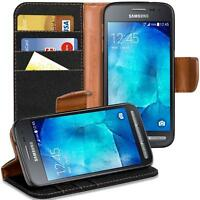 Samsung Galaxy Xcover 3 Phone PU Leather Magnetic Flip Case Wallet Denim Cover