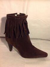 Nine West Brown Ankle Suede Boots Size 5.5W (U.K. Size 3.5)