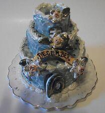 Blue Sky December 2002 Birthday Cake Tea Light Holder  Heather Goldminc