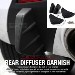 Bumper Diffuser Molding Point Garnish Lip Under Splitter Black for PEUGEOT Car