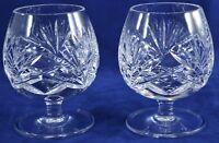 "2 GORHAM Crystal ~CHERRYWOOD~ Cut Pattern BRANDY GLASS Snifter 4"" Mid Century"