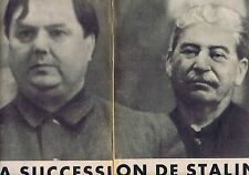 COUPURE DE PRESSE CLIPPING 1952 LA MORT de STALINE (24 pages)