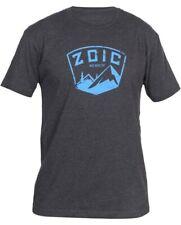 Zoic Badge Tee Shirt MTB Small Charcoal Cycling