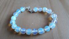 Ladies Hand Made Simulated Moonstone Bead Bracelet