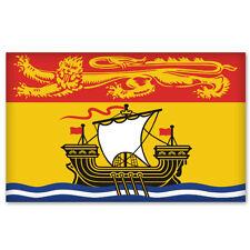 "NEW BRUNSWICK Canada Flag bumper sticker decal 5"" x 4"""