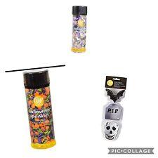 Wilton metal Halloween Cookie Cutters, Spooky and pumpkin sprinkles bundle