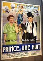 Superbe affiche de cinéma Prince d'une nuit 1935 Lambert de Braz de 120 X 160 cm