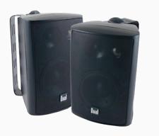 Dual 8 - inch 3-Way Indoor / Outdoor Speakers in Black - Pair