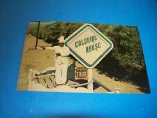 Vintage Postcard Rppc Black Americana Chef statue Colonial House