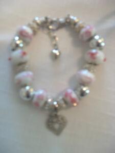 Love PINK! - EURO BRACELET - Hand-Made - Beautiful One of a Kind