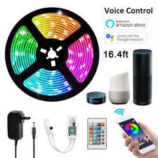5M LED luz de tira 5050 SMD RGB 60 Leds/m + controlador WIFI IR + 12V fuente de alimentación