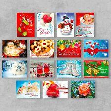 Postkarten Weihnachten 30 Stück klassische Weihnachtspostkarte + Glimmer DIN A6