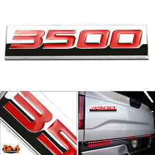 """3500"" Polished Metal 3D Decal Red Emblem Exterior Sticker For Chevrolet/GMC"