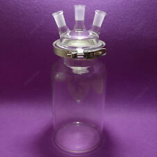 3000mL,24/40,3 neck,Cylinder Reactor,Flat Bottom Reactor Flask with easy clamp