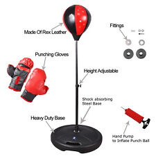 NEW CHILDREN KID STANDING FREE JUNIOR BOXING PUNCH BAG BALL WITH GLOVES PLAY SET