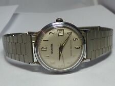 Vintage Mens Belforte Manual Wind Wrist Watch 17 Jewel Runs Great!!