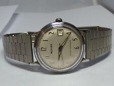 Vintage Mens Belforte Manual Wind Wrist Watch 17 Jewel Runs Great!!