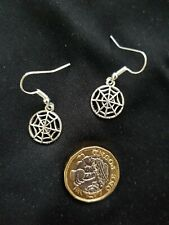 Halloween Spider Web Earrings Tibetan Silver Gothic Witch Wiccan