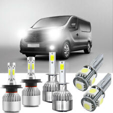 FOR Renault Trafic Super White Xenon HID High/Low/Fog/Side Headlight Bulbs Set