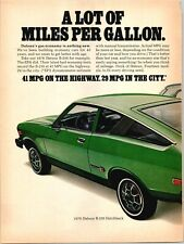 1976 Datsun B-210 Hatchback Gas Economy Car MPG 2 Page 1975 Vintage Print Ad