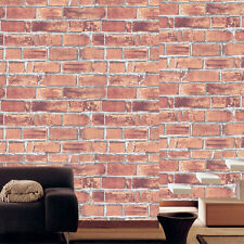 Contact Paper Natural Brown Brick Effect Self Adhesive Wallpaper Home Depot Roll