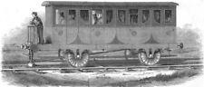 RAILWAYS. Nickelss new Railway, antique print, 1845