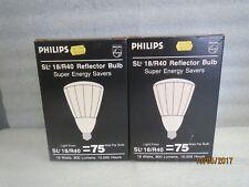 Philips Sl 18/R40 Reflector Bulb - Lot Of 2 Bulbs - New 75Watt