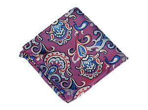 Lord R Colton Masterworks Pocket Square - Pisaq Orchid Silk - $75 Retail New