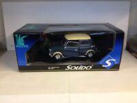 Rare Solido Mini Cooper S. 1964. Blue. Die Cast. 1:18. 8023