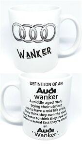 Audi wanker mug. A3 a1 r8 q3 q2 Just passed. Perfect xmas, birthday fun gift. 🤪