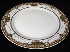 Pegasus Fine Porcelain China Gold On White Dinner Plate