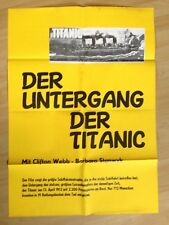 Filmposter * Kinoplakat * A1 * Der Untergang der Titanic * WA 70er * Negulesco