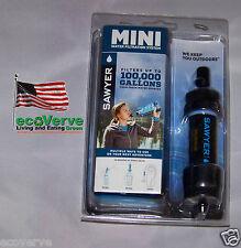 [SP105]( 1X) BLACK Sawyer Mini Water Filter w/16 oz pouch FREE Shipping  SP128
