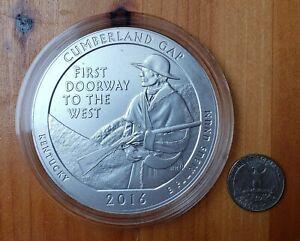 2016-P ATB Cumberland Gap NP, Kentucky, 5 Oz .999 Silver, OGP & COA